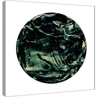 "PTM Images 9-101117  PTM Canvas Collection 12"" x 12"" - ""Painterly Circle on White K"" Giclee Abstract Art Print on Canvas"