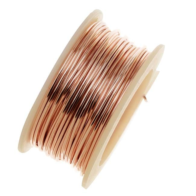 Artistic Wire Silver Plated Craft Wire 24 Gauge Thick 10 Yard Spool Rose Gold Color