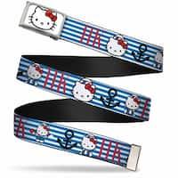 Hello Kitty Face Fcg White Bo Chrome Hello Kitty Summer Sailor W Web Belt