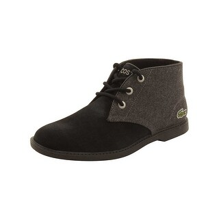 Lacoste Youth Sherbrook 416 Boots in Black/Dark Grey