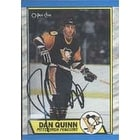 Dan Quinn Pittsburgh Penguins 1989 Opee Chee Autographed Card This item comes with a certificate of authenticity from