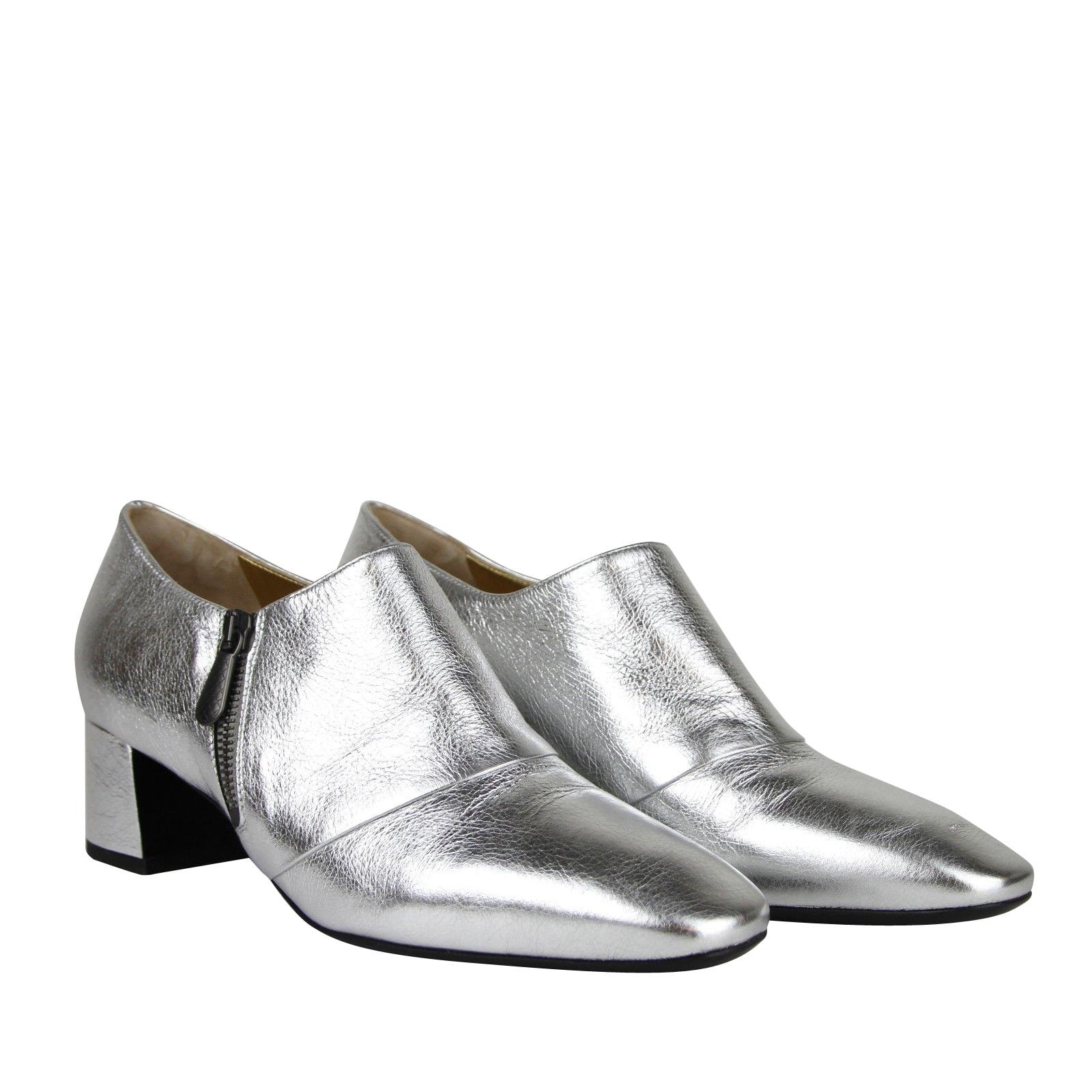 silver dress booties
