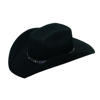 Twister Western Hat Boys Brick Studded Hatband Black T7233201