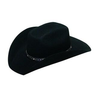Twister Western Hat Boys Brick Studded Hatband Black T7233201