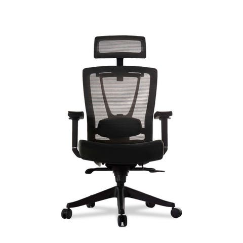 """Vifah A70 Autonomous Smart Office 32"""" Leather Upholstered Wide Mesh Full Back Adjustable Office Chair with Extended Weight"""