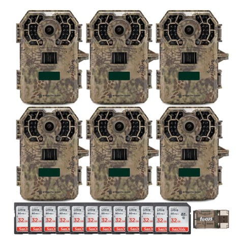 Stealth Cam 2020 G42NG 24MP No-Glow Trail Cameras & Cards Kit (6-Pack)