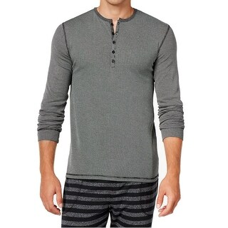 Kenneth Cole Reaction NEW Gray Mens Medium M Striped Henley Nightshirt