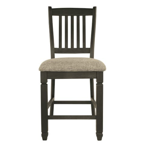 Ashley D736-124 Textured Black Finish Counter Height Barstool 6 Pack