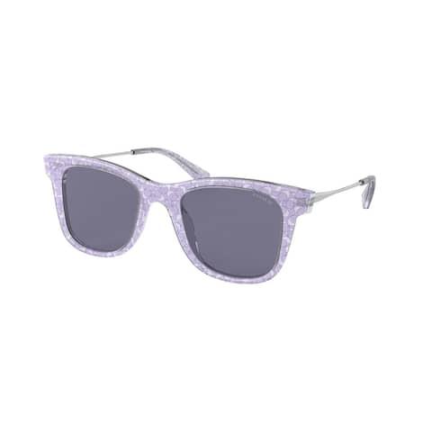 Coach HC8290 558780 50 Transparent Purple Sig C Woman Square Sunglasses