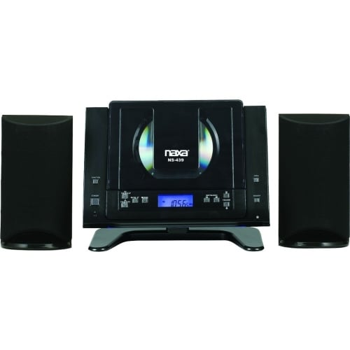 """Naxa NS-439 Naxa NS-439 Micro Hi-Fi System - 4.4 W RMS - Black - CD Player - AM, FM - 2 Speaker(s) - CD-DA - Remote Control"""
