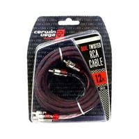 Cerwin Vega Stroker Series 2-channel RCA cable 12ft dual twisted metal ends