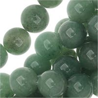 Aventurine Gemstone Beads, Round 10mm, 15.5 Inch Strand, Green