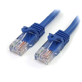 StarTech Blue Snagless RJ45 UTP Cat 5e Patch Cable - 6 Feet (RJ45PATCH6)