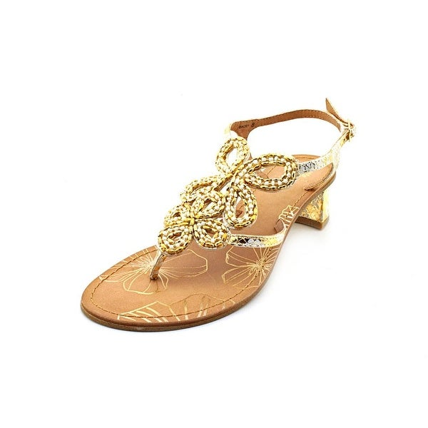 Yellow Box Dacey Open Toe Synthetic Thong Sandal