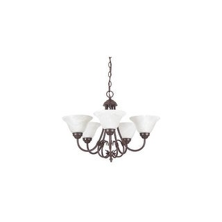 "Sunset Lighting F6345 Madrid 5 Light 500 Watt 22.5"" Width Chandelier"