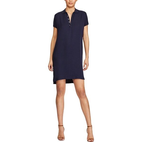 Womens Silk Sleeves Polo Free Ralph Shirtdress Short Shop Lauren kZTwXlPiOu