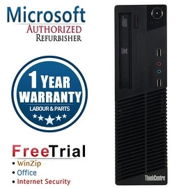 Refurbished Lenovo ThinkCentre M71E SFF Intel Core I3 2100 3.1G 4G DDR3 500G DVD Win 7 Pro 1 Year Warranty