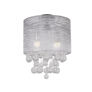 12-inch Round 2-Light Crystal Flush Mount Chandelier
