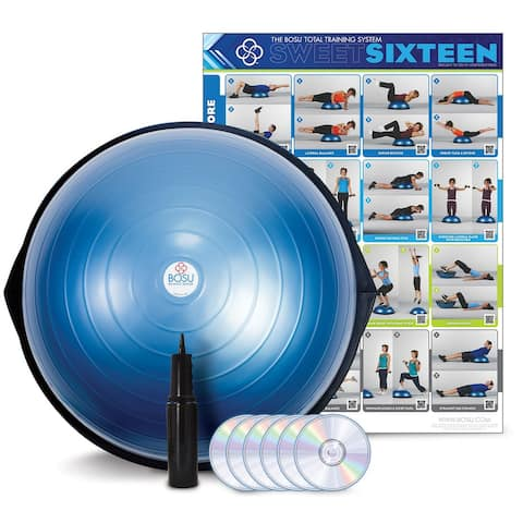 BOSU® HOME Balance Trainer with wall chart and 6 workout DVDs