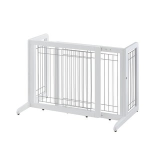 "Richell Freestanding Pet Gate HL Small White 26.4"" - 40.2"" x 17.7"" x 20.1"""