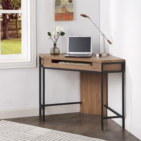 ROSEN GARDEN Corner Desk with Keyboard Tray, Not for 90 Degrees Corner