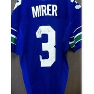 Signed Mirer Rick Seattle Seahawks Game Seattle Seahawks Jersey Size 42 autographed