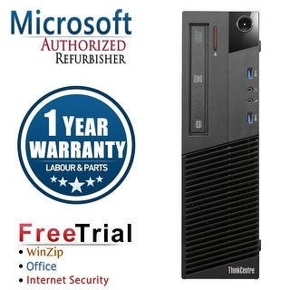 Refurbished Lenovo ThinkCentre M83 SFF Intel Core I5 4570 3.2G 16G DDR3 2TB DVD Win 10 Pro 1 Year Warranty - Black