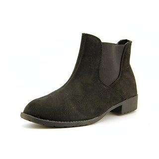 Propet Scout Women Round Toe Canvas Black Ankle Boot
