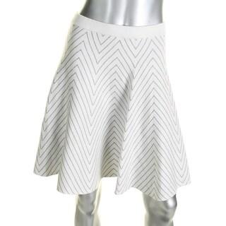 Grace Elements Womens Flare Skirt Chevron Metallic - S