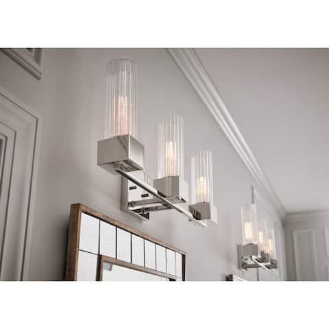 Hinkley Xander 3-Light Vanity in Polished Nickel - 3 Light