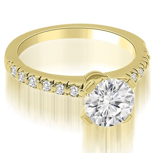 0.75 cttw. 14K Yellow Gold Round Cut Diamond Engagement Ring
