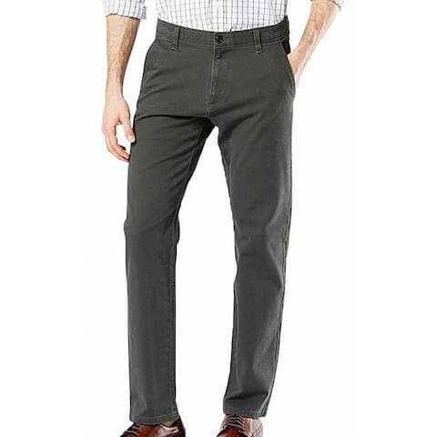 Dockers Mens Ultimate Chino Pants Gray 56x32 Big & Tall Tapered Stretch