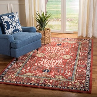 Link to Safavieh Handmade Antiquity Amalia Traditional Oriental Wool Rug Similar Items in Transitional Rugs