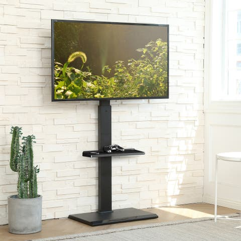 FITUEYES Floor TV Stand Height Adjustable Swivel Mount Up to 65 inches