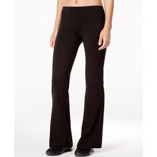 Ideology Women's Flex Stretch Short-Inseam Bootcut Yoga Pants Size Extra Small - Black - X-Small