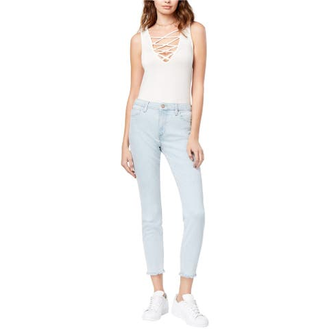 Joe's Womens Frayed Skinny Fit Jeans, Blue, 32