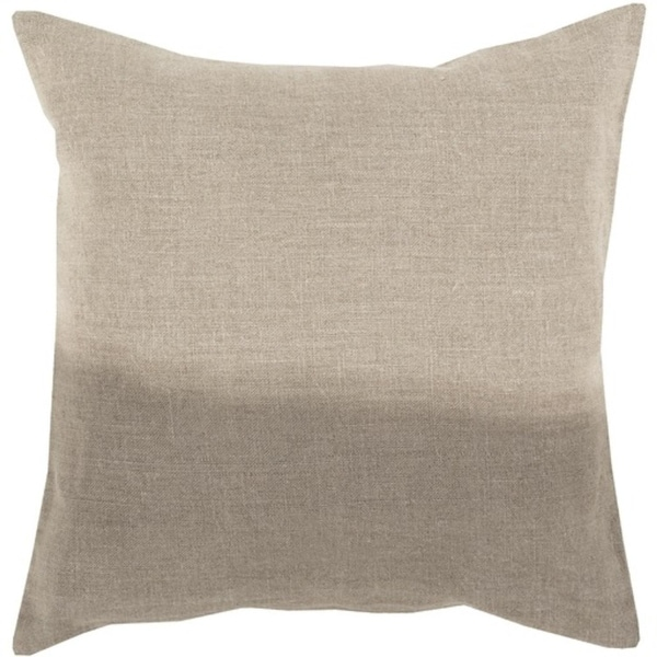 "22"" Light Brown and Gray Dip Dyed Decorative Throw Pillow"