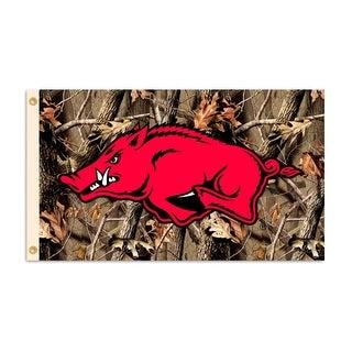 University of Arkansas Razorbacks Camo Flag