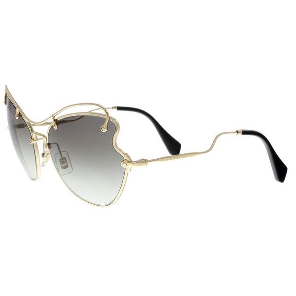 9846508dcf370 Shop MIU MIU MU56RS ZVN0A7 Pale Gold Butterfly Sunglasses - No Size ...
