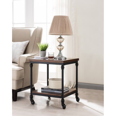 Covington Side Table with USB Charging Station