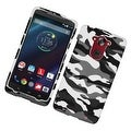 Insten Camouflage Hard Snap-on Rubberized Matte Case Cover For Motorola Droid Turbo - Thumbnail 5