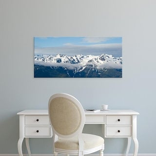 Easy Art Prints Panoramic Image 'Snow mountains, Hurricane Ridge, Olympic National Park, Washington State' Canvas Art
