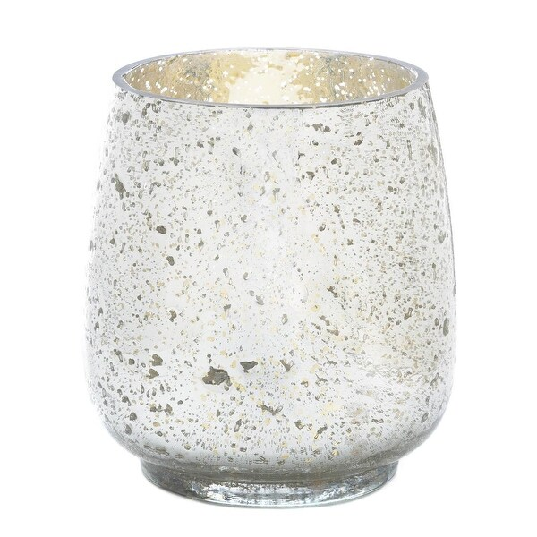 Silver Mercury Glass Hurricane