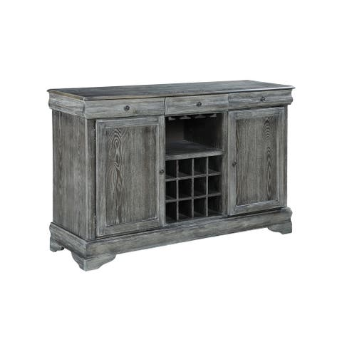 Carrington Weathered Ash 2-door Server