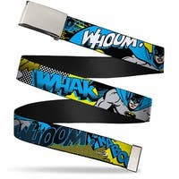 Blank Chrome  Buckle Batman Scene1 Webbing Web Belt