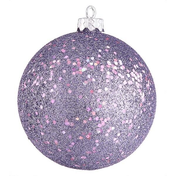 "6"" Lavender Sequin Ball Drilled 4/Bag"