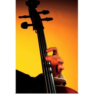 """""""Hand playing cello"""" Poster Print"""