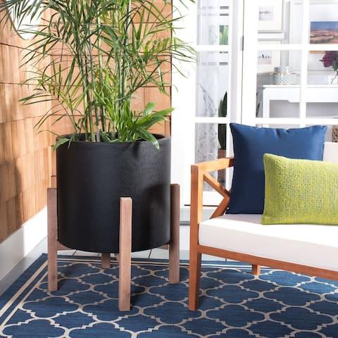 """Safavieh Outdoor Living Loflen Concrete Planter - 25.3"""" W x 25.3"""" L x 29.3"""" H"""