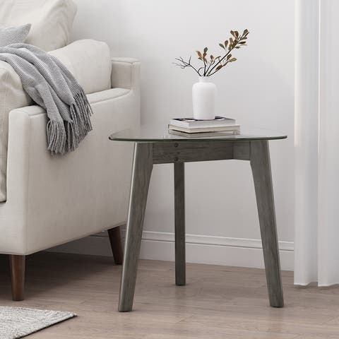 Wasco Indoor Wood and Glass End Table by Christopher Knight Home