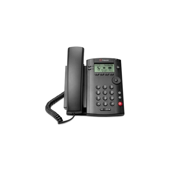 Polycom VVX 101 (2200-40250-025) One-Line PoE Corded Business Media Phone